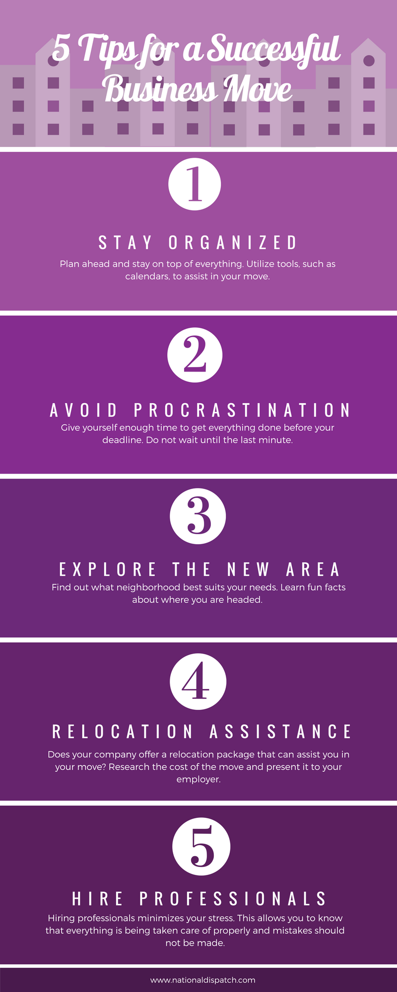 5 Tips for a Successful Business Move Infographic