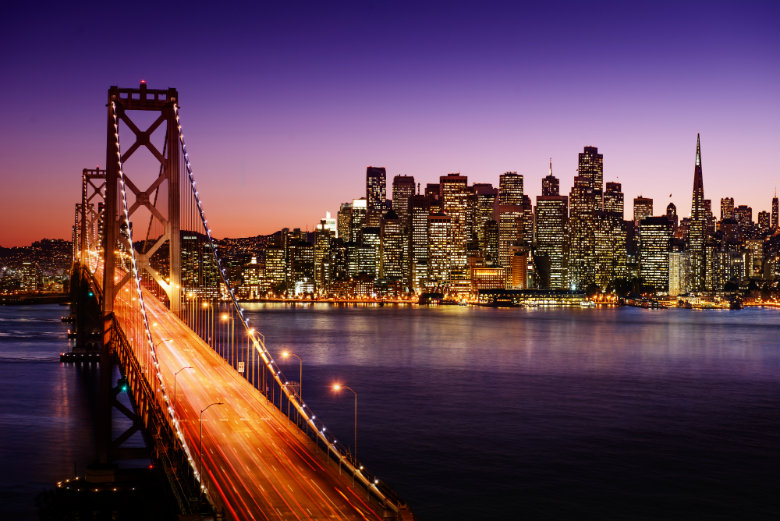 San Francisco skyline and Bay Bridge