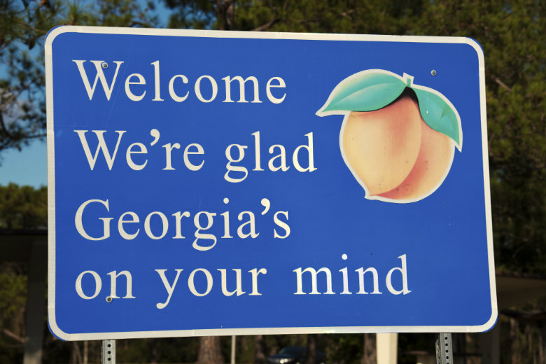 Welcome to Georgia Peach Sign