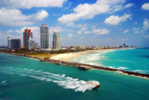 Aerial View - South Beach Miami