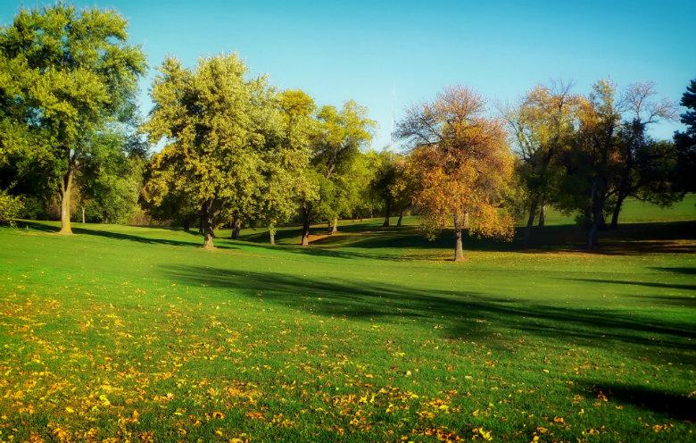 Nebraska Park In Fall