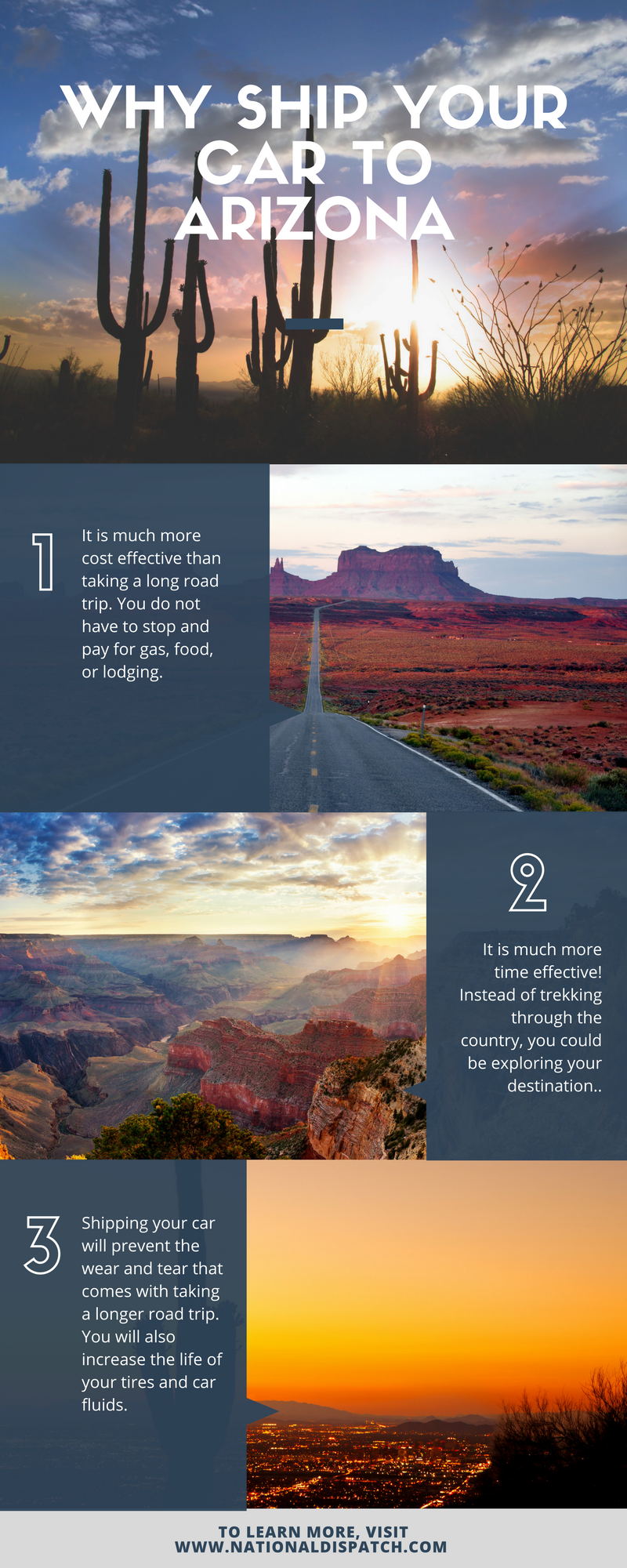 Shipping Car To Arizona Infographic