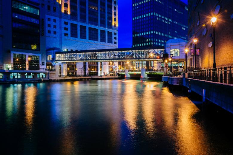 Bridge and Buildings - Milwaukee River