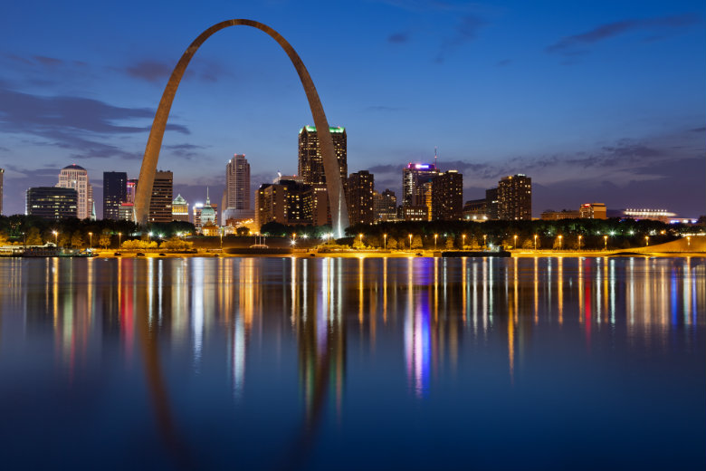 Skyline of St. Louis Missouri