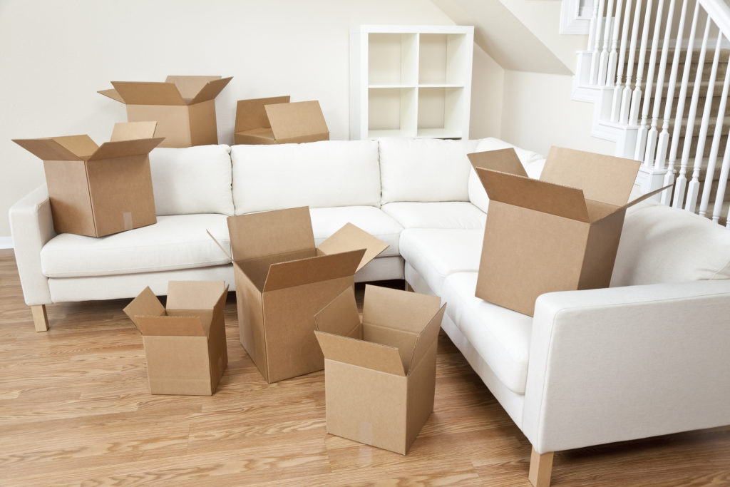 Boxes in Living Room