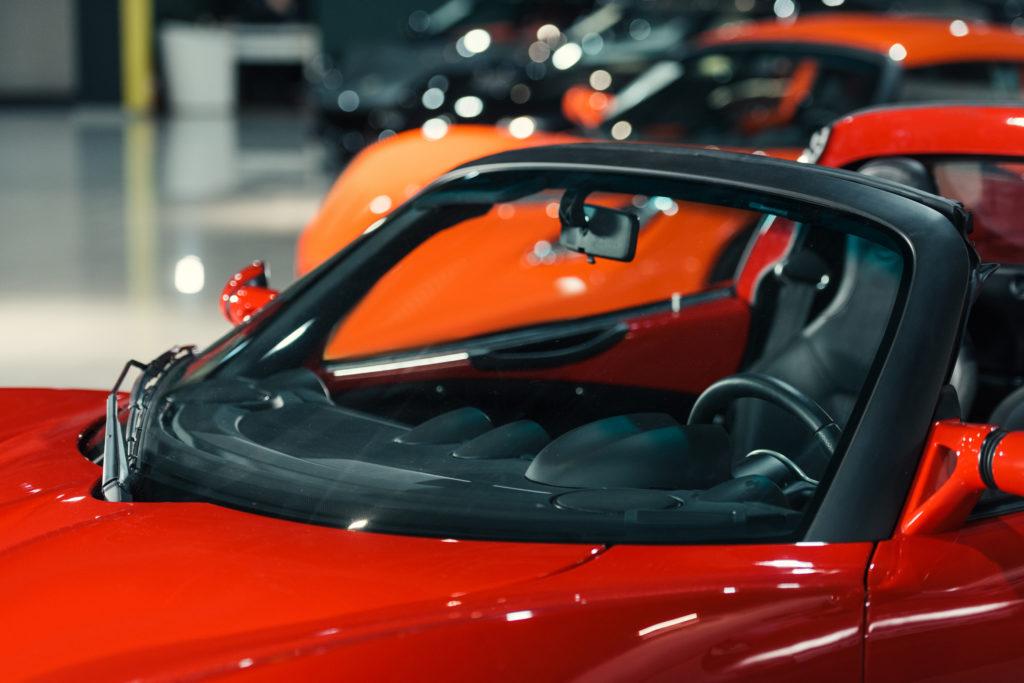 Sports Car in Showroom