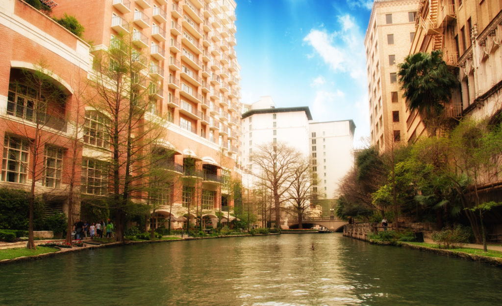 San Antonio River and Buildings
