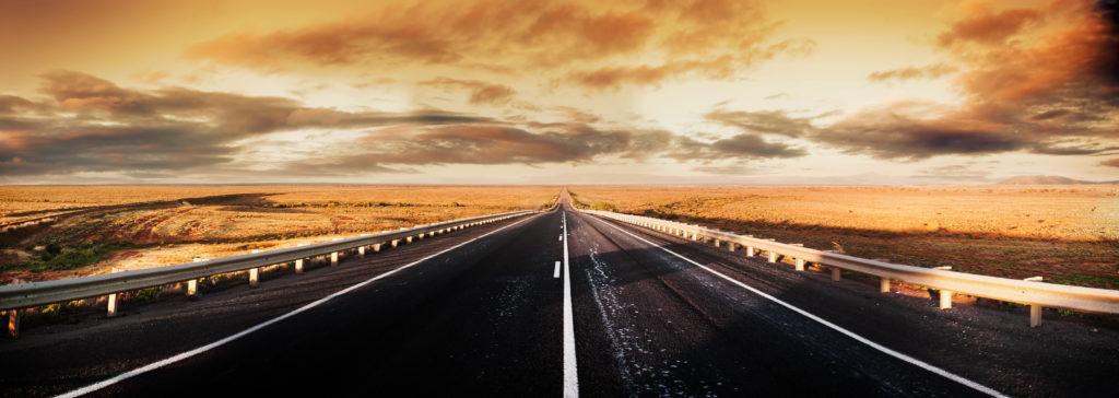 Road Panorama through the desert