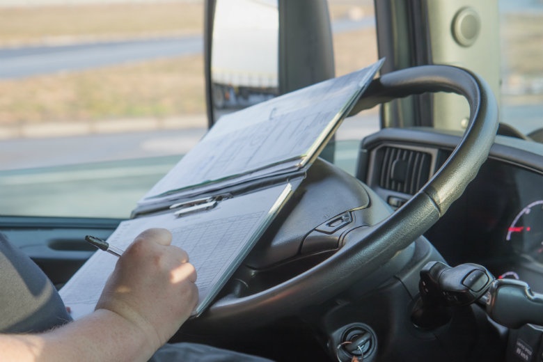 Truck Driver With Paperwork